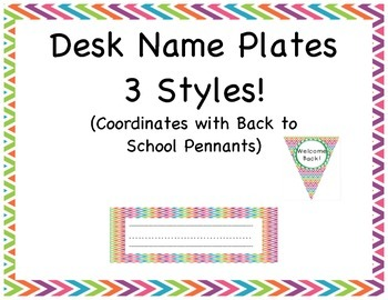 Back to School Name Plates