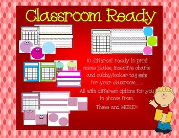 Back to School: Name Plates, Cubby/Locker Tags, and Incentive Chart Sets
