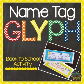 Back to School Activity Name Tag Glyph
