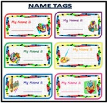 Back to School -Name Tags