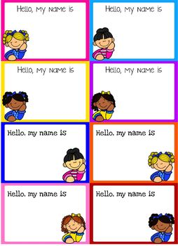 Back to School Name Tags (Editable)