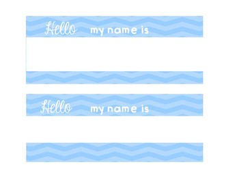 Back to School Name Tags Editable Hello My Name is
