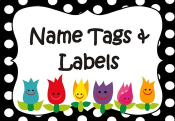 flower name tags labels templates editable by my adorable class