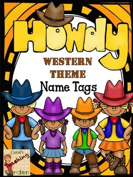 Back to School Name Tags with a Western Theme (Editable Names)