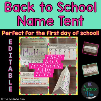 Back to School-Name Tent