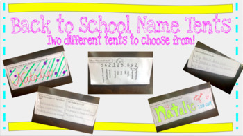 Back to School Name Tent