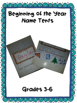 Back to School Name Tents