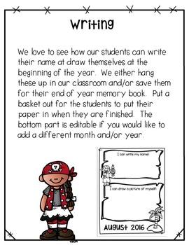 Back to School Name Writing Freebie - Pirate Style