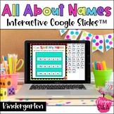 Back to School Names Digital Google Slides™️ for Distance