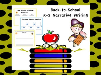 Back-to-School Narrative K-2 Writing Packet
