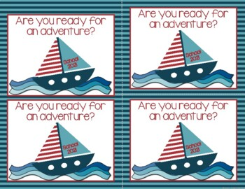 Back to School Nautical Post Cards