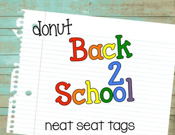 Back to School {Neat Seat Tag}