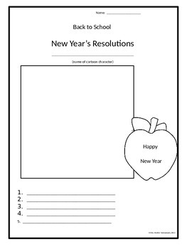 Back to School New Year Resolutions