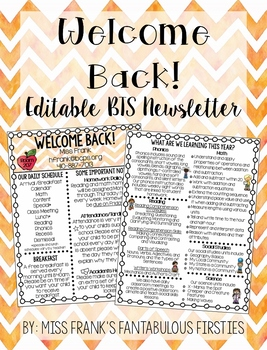 Back to School Newsletter (100% Editable)
