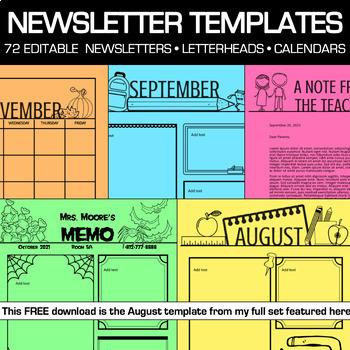 Back to School Newsletter Editable
