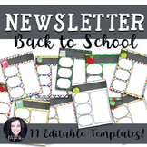 Back to School Newsletter Templates