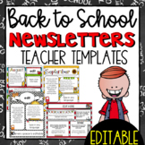 Back to School  Newsletter Templates - EDITABLE