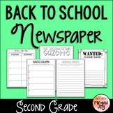 Back to School Newspaper - 2nd Grade