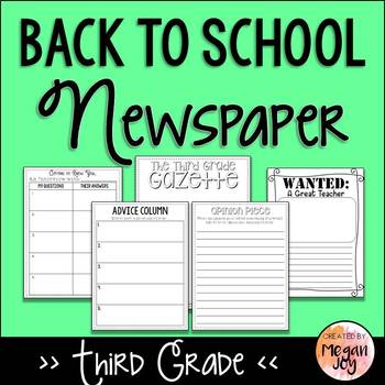 Back to School Newspaper - 3rd Grade