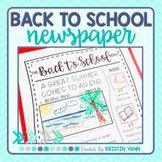 Back to School Newspaper Writing Activity (Print and Digital)