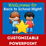 Back to School Night PowerPoint | Back to School Night Power Point ( EDITABLE)