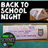 Back to School Night Craftivity