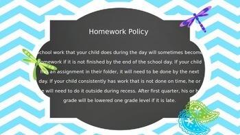 Back to School Night: An Editable PPT Presentation with a Chevron Theme