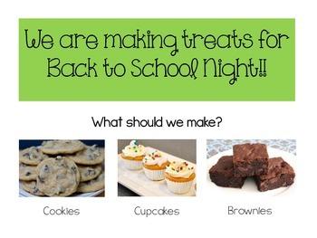 Back to School Night Baking Activity {FREEBIE}