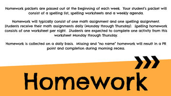 Editable Back to School Night / Beginning of the Year Power Point