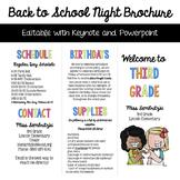 Back to School Night Brochure