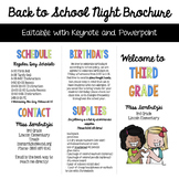 Back to School Night Brochure