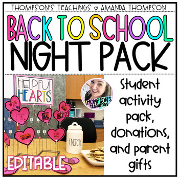 Back to School Night Bundle: Activities and Gifts