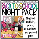 Back to School Night Pack with Activities and Gifts