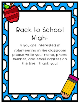 Back to School Night Bundle