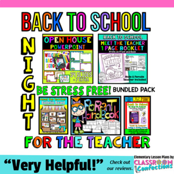 Back to School Night: All About Me: Meet the Teacher: Pare