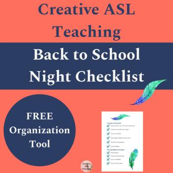 Back to School Night Checklist - Free!