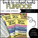 Back to School Night/ Curriculum Night Editable Flip Book