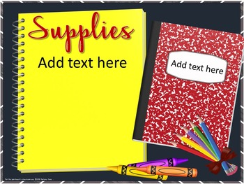 BACK TO SCHOOL NIGHT / MEET THE TEACHER DIGITAL SLIDES FOR MIDDLE & HIGH SCHOOL
