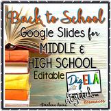 Back to School Night / Meet the Teacher DIGITAL Slides for