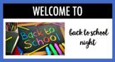 Back to School Night EDITABLE