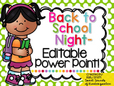 Back to School Night PowerPoint- Editable