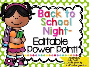 Back to School Night PowerPoint- Editable