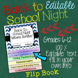 Meet the Teacher Open House Editable Flip Book for Middle School and High School