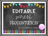 Back to School Night Editable Parent Presentation