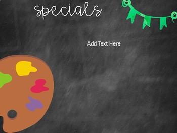 Back to School Night Editable Parent Presentation