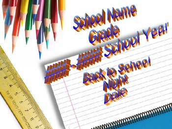 Back to School Night Editable Powerpoint Template