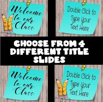 Back to School Night Editable Presentation in Google Slides™