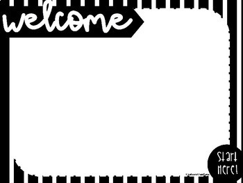 Back to School Night Open House Editable Stations in Black and White