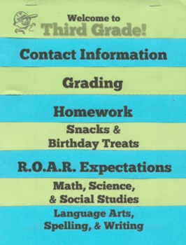 Back to School Night Flap Book