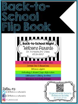 Back-to-School Night Flip Book